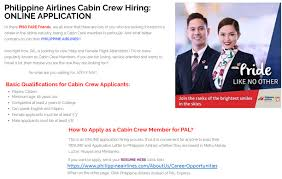 i cares news archive philipine airlines online application for new cabin crew members