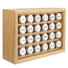100% Solid Wood Spice Rack, Includes 24 4oz Clear ... - Amazon.com