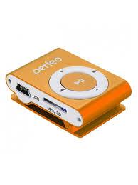Цифровой аудио <b>плеер</b> Music Clip <b>Titanium</b>, оранжевый <b>Perfeo</b> ...