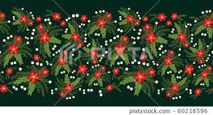 <b>Red</b> Poinsettia Christmas flowers seamless... - Stock Illustration ...