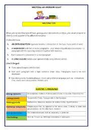 english teaching worksheets  opinion essayenglish worksheets  writing an opinion essay guidelines model