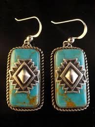 New <b>Vintage Tibetan</b> Silver Turquoise Earrings – Annie Cloth