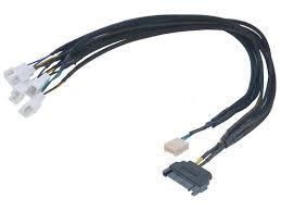 <b>Кабель разветвитель</b> Flexa FP5S Smart PWM <b>Black Braided</b> 45cm ...