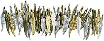 <b>Fashion</b> Mini <b>Feather</b> Charms Vintage Metal Zinc <b>Alloy</b> Small ...