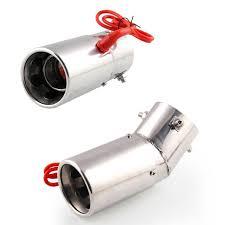1PC Universal 70mm Car Straight Spitfire Flaming <b>LED</b> Red <b>Light</b> ...