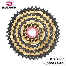 <b>BOLANY</b> Black gold 9 Speed <b>Cassette Freewheel</b> 1 42T <b>MTB</b> ...