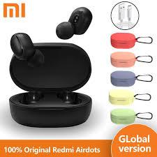 <b>Original Xiaomi Redmi Airdots</b> Black Bluetooth Earphones Youth Mi ...