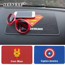 1pc SEEYULE 26.5x16cm Car Anti Slip Mat Superhero Symbol Iron ...