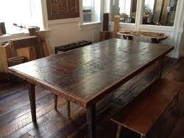 cute modern reclaimed wood dining table as well as reclaimed wood dining room tables toronto kitchen brooklyn modern rustic reclaimed wood