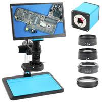hdmi usb 21mp 1080p 60fps 2k tf video recorder 100x electronic repair microscope camera for lab pcb ic cpu soldering