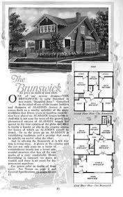 I loved this one       then I realized the floor plan is very    Sears     Bungalow Floor Plans  quot The Brunswick quot