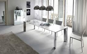 Big Dining Room Modern Dining Room Design Rectangular White Polished Wooden Dining