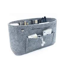 <b>Makeup Storage Organizer</b>,<b>Felt</b> Cloth Insert Cosmetic Bag <b>Multi</b> ...