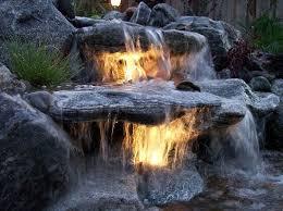 pond lighting ideas. underwater lighting in a waterfall pond ideas t
