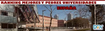 Resultado de imagen de las mejores y peores universidades de españa