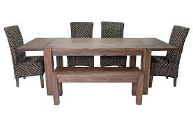 4 chair kitchen table: meadow table  chairs bench amp server package media image