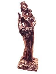<b>Статуэтка</b> Фортуна богиня удачи <b>30 см</b> цвет медь (гипс) Kalina M ...