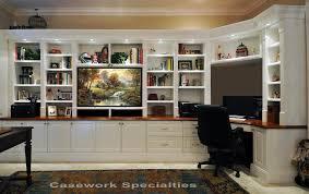 custom office corner desk tv wall units with desk and bookshelves built corner desk home