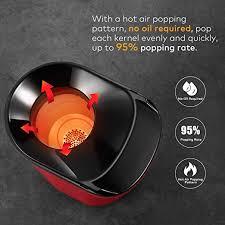 Popcorn machine, Aicook 1400W <b>automatic popcorn maker with</b> 16 ...