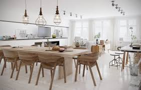 dining table interior design kitchen:  polished wood floors