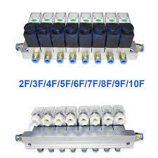 2 way valve 6W <b>Pneumatic</b> Aluminium <b>solenoid valve</b> sets <b>2V025</b> 06 ...