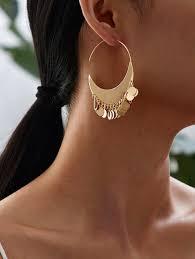 geometric round hoop earrings for women acrylic tortoiseshell boho vintage jewelry earings fashion brincos