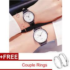 <b>2pcs</b>/sets <b>Korean</b> Fashion <b>Simple</b> Casual Analog Couple Watch + ...