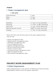 project on construction of house report    Outputs • Project management plan
