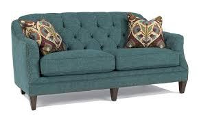 Peacock Tufted Sofa With Nailhead Trim