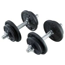 <b>Набор</b> гантелей для силовых тренировок <b>20</b> кг DOMYOS - купить ...