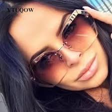 2019 New Arrival Luxury <b>Rimless Sunglasses</b> For <b>Women</b> Brand ...
