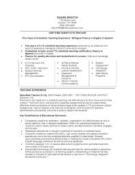 resume for substitute teacher com resume for substitute teacher is one of the best idea for you to make a good resume 19