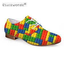 <b>ELVISWORD</b> 3D Toy Brick Printed Flat Shoes <b>Women Round</b> Top ...