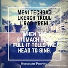 Moroccan Proverb