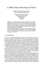 A VHDL design methodology for FPGAs   Springer Inside