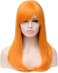 Amazon.co.jp: HongHu Women's <b>Side Bangs Long Straight</b> Wig ...