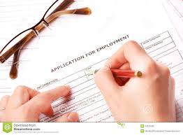 completing an employment application stock photos image 24315003 completing an employment application