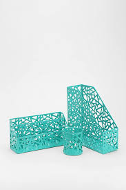 turquoise office accessories chic mint teal office