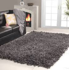 rug black shag rug home office