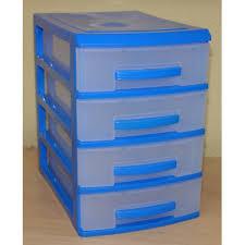 Мини-<b>комод</b>, <b>4 секции</b>, цвет темно-голубой / прозрачный 1/6
