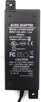 PoE Texas Power Supply 48V 60W 1.25A - UL and ... - Amazon.com