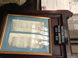william shakespeare image gallery pedal england cycle tour shakespeare s baptism and burial records holy trinity church