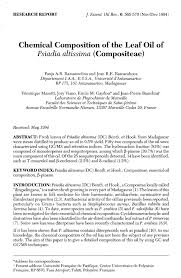 (PDF) Chemical Composition of the Leaf Oil of Psiadia altissima ...