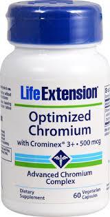 Life Extension <b>Optimized Chromium with Crominex</b>® 3+ -- 500 mcg ...