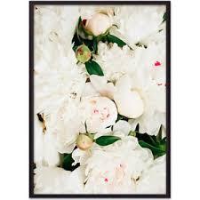 <b>Постер в рамке Дом</b> Корлеоне Белые пионы 50x70 см | www.gt-a.ru