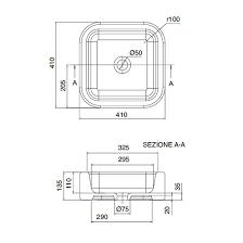<b>Раковина</b> накладная <b>Scarabeo Next</b> 40 <b>8306</b> (410х410 мм ...