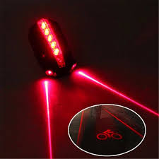 <b>5 LED</b> 2 <b>Laser</b> Rear Light Logo Projection | Bike tail light, Bike lights ...