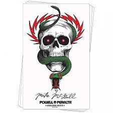 <b>Bones</b> Brigade® McGill <b>Skull</b> & Snake Sticker (20 pack) - <b>Skate</b> One