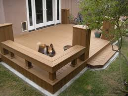 patio railing built bench