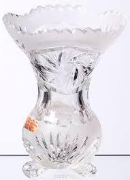 <b>Ваза Bohemia</b> Crystal, цвет: прозрачный, высота 16 см. 33655 ...